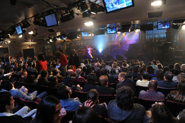 Fans Crowd the Ed Sullivan Theater