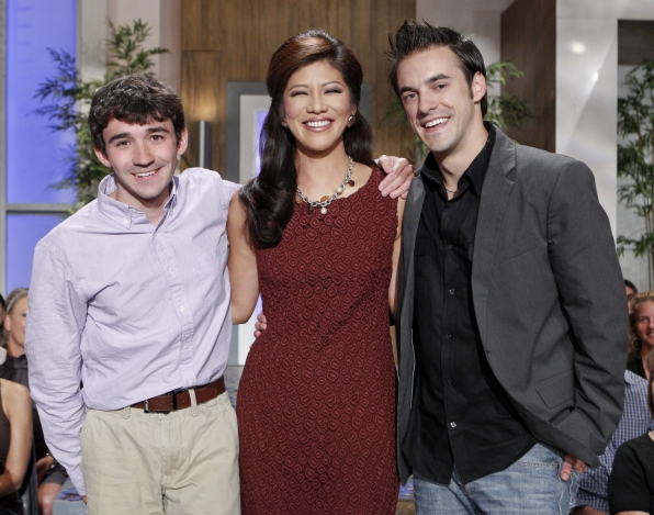 Julie Chen poses with Winner Ian and Runner-Up Dan