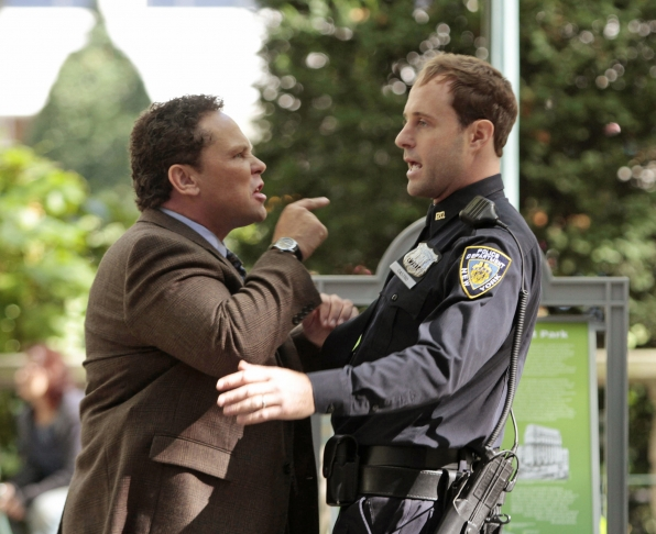 Fusco Confronts an Officer