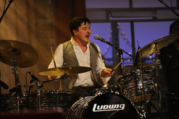 Marcus Mumford on the Drums
