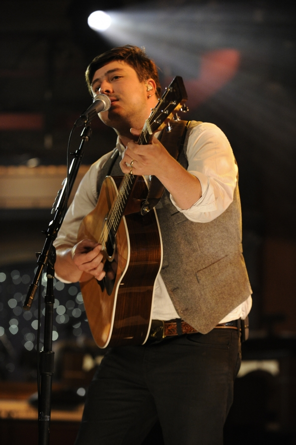 Marcus Mumford with His Guitar