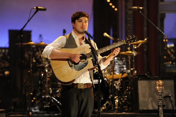 Marcus Mumford with the Band