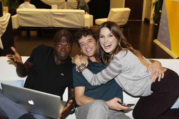 Reno Wilson, Michael Urie and Sophia Bush
