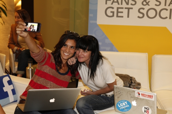 Daniela Ruah and Pauley Perrette
