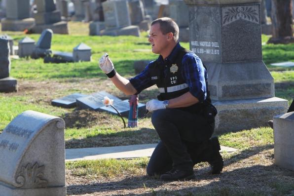 "George Eads as Nick Stokes in ""Fallen Angels"""