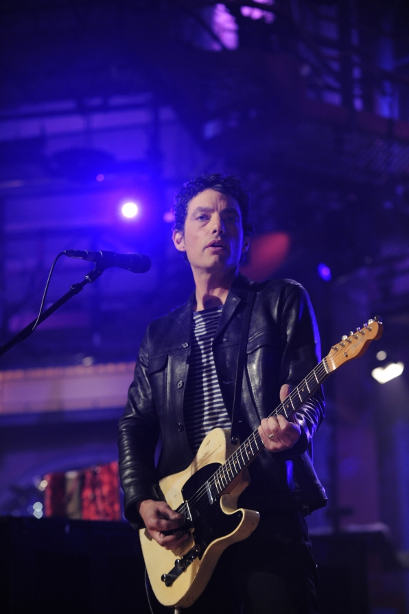 Jakob Dylan with His Guitar