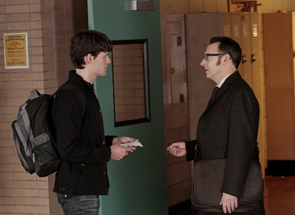 Finch infiltrates a high school as a substitute teacher.