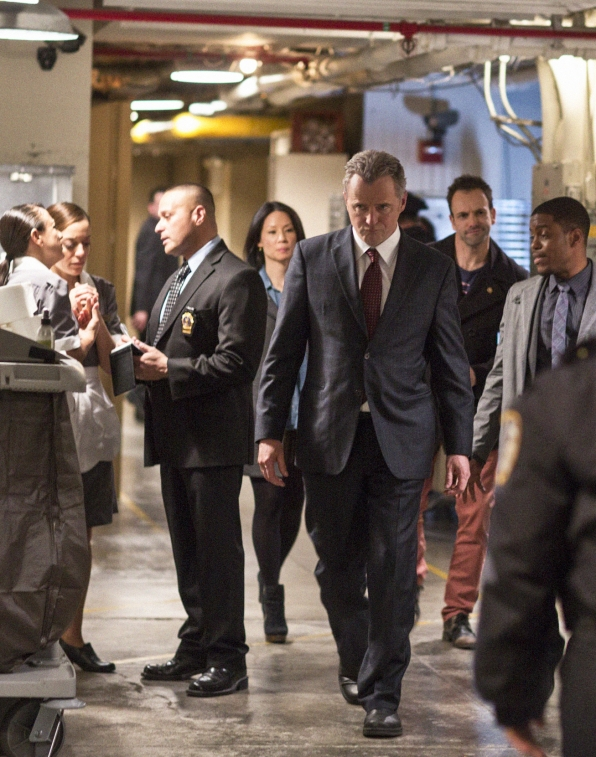 Sherlock, Joan and Detective Bell Follow Gregson