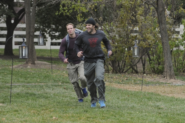 "Running to the mat in the season finale of The Amazing Race ""Beacon of Hope"""
