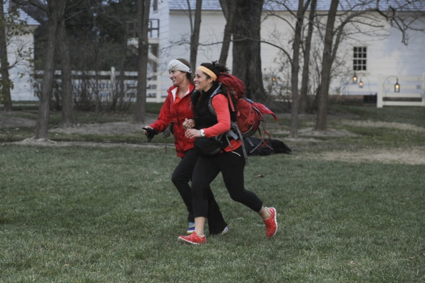 "Running to the finish line in the season finale of The Amazing Race ""Beacon of Hope"""