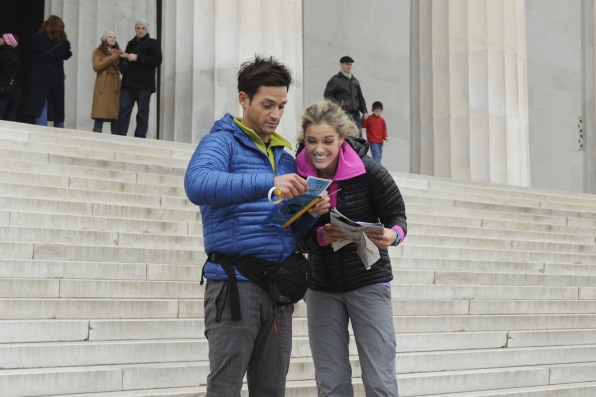 "Steps at the Lincoln Memorial in the season finale of The Amazing Race ""Beacon of Hope"""