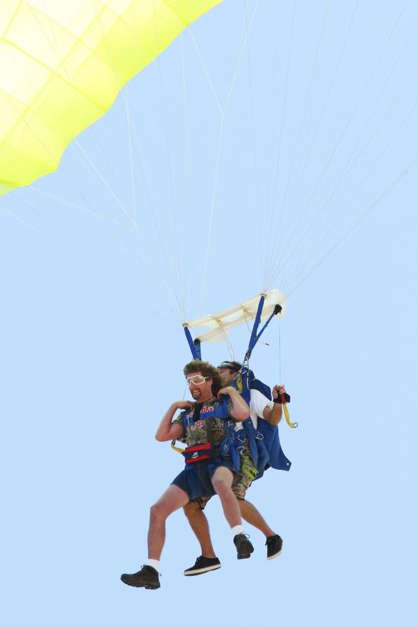 Chuck skydiving