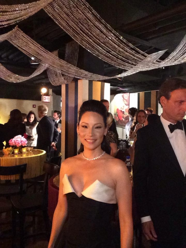 5. Lucy Liu - Backstage at the Tony Awards