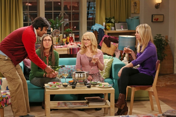 "The Girls and Raj in ""The Contractual Obligation Implementation"", Episode 18 of Season 6"