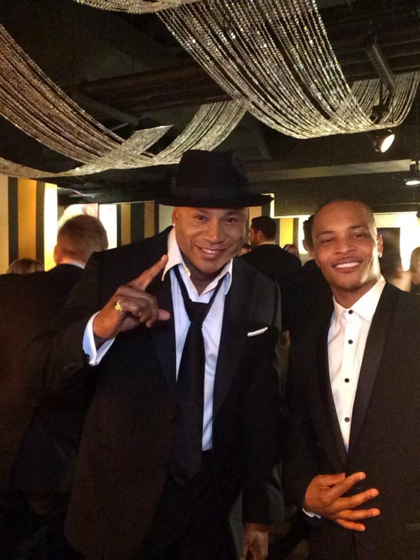 10. LL Cool J and T.I. - Backstage at the Tony Awards