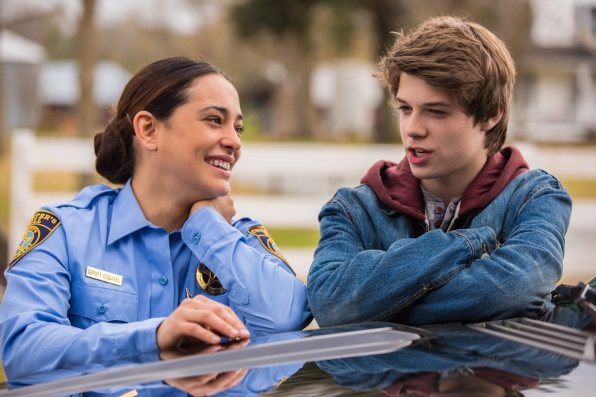Natalie Martinez and Colin Ford
