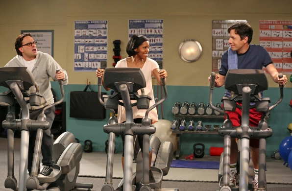 "Workout war in ""The Tenure Turbulence"" in Episode 20 of Season 6"