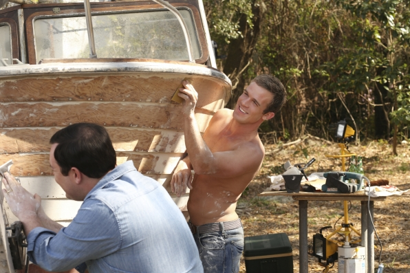 1. He knows how to make cleaning a boat look good.
