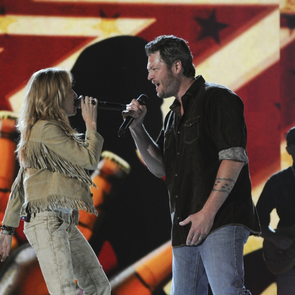 Sheryl Crow and Blake Shelton