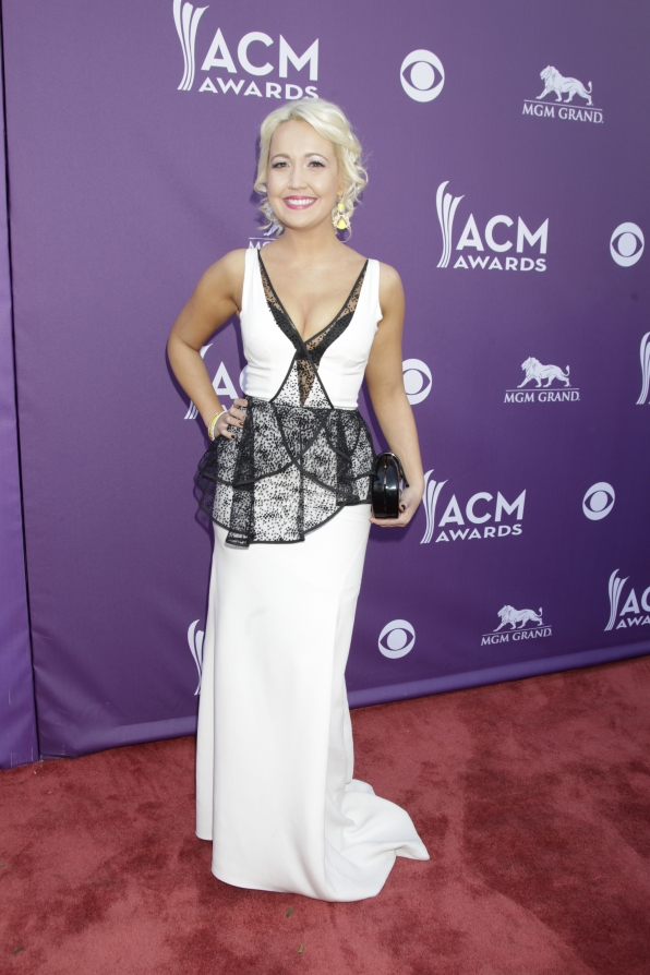 Meghan Linsey on the Red Carpet - 48th ACM Awards