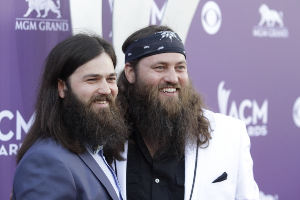 Jep Robertson and Willie Robertson on the Red Carpet - 48th ACM Awards