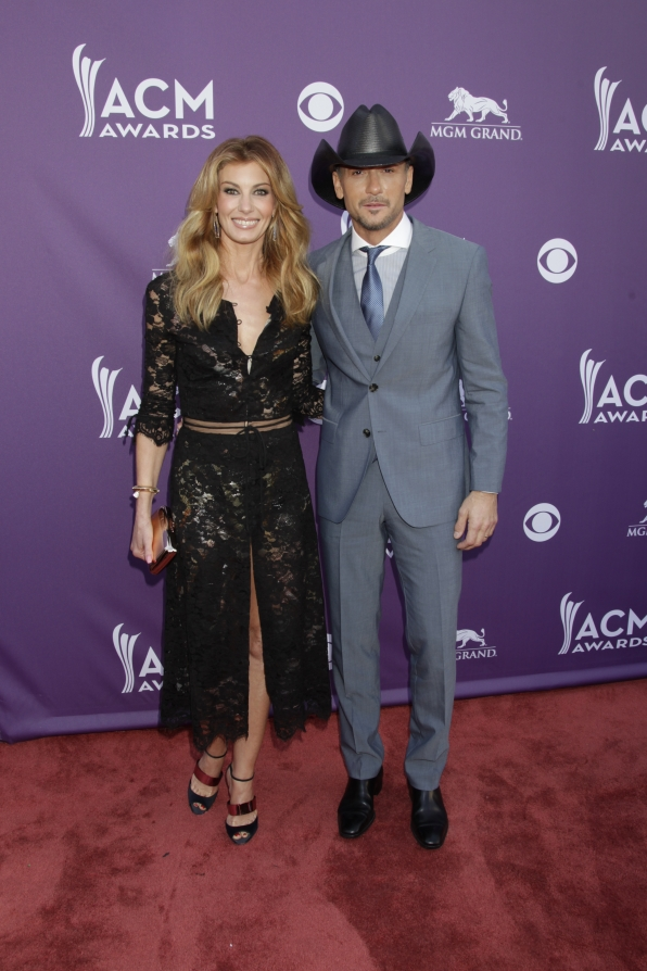 Faith Hill and Tim McGraw on the Red Carpet - 48th ACM Awards