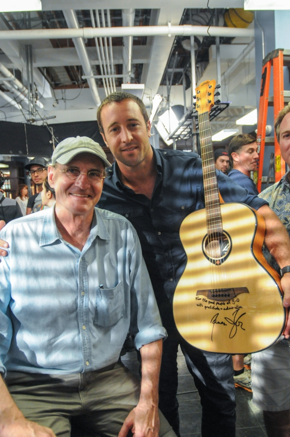 James Taylor and Alex O'Loughlin