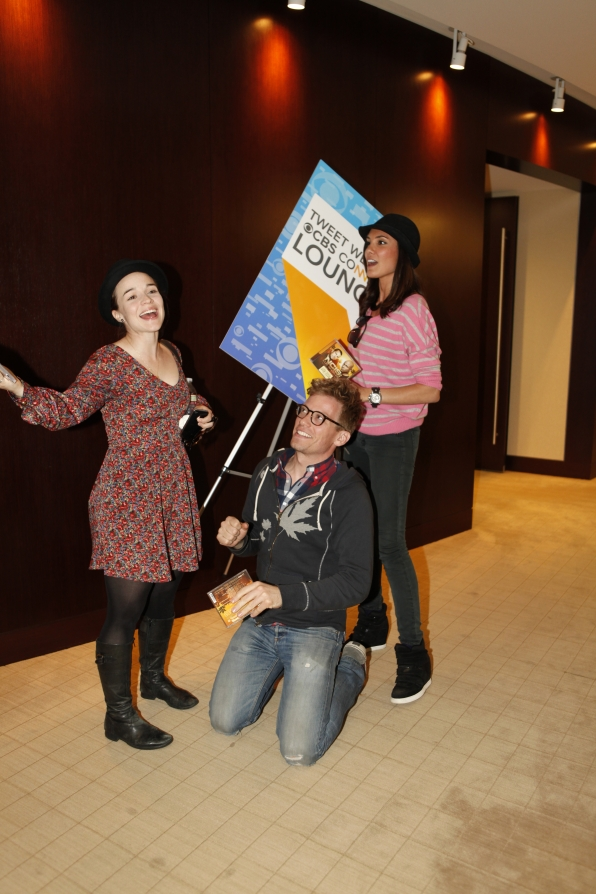 Renee Felice Smith, Barrett Foa and Daniela Ruah at the CBS Tweet Week Lounge