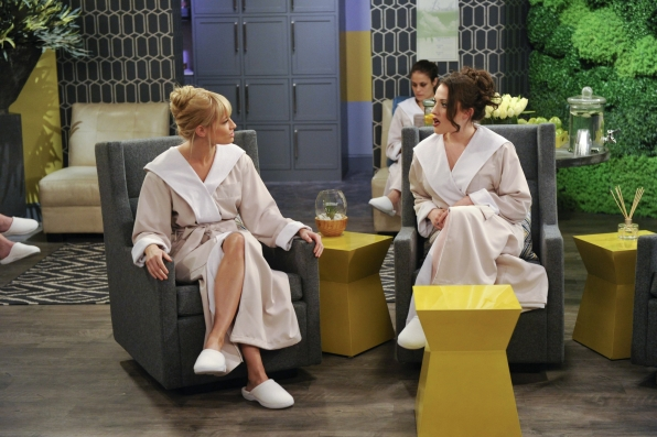 "Spa Day in ""And The Tip Slip"" Episode 23 of Season 2"