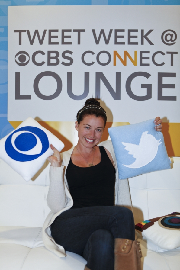 Parvati in the Tweet Week CBS Connect Lounge