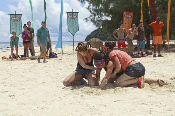 Morgan, Lindsey and Sarah compete