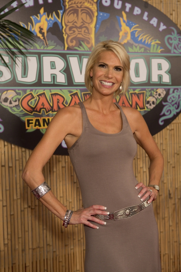 Sherri on the red carpet of the Survivor Live Reunion Show