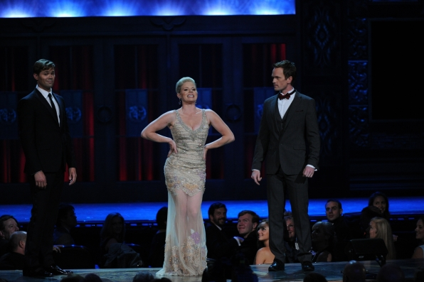 Andrew Rannells, Megan Hilty, and Neil Patrick Harris