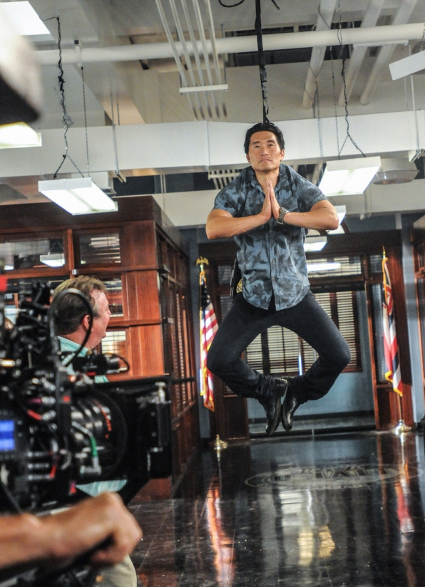 Chin Ho Levitating Behind the Scenes in the Season Premiere of Hawaii Five-0