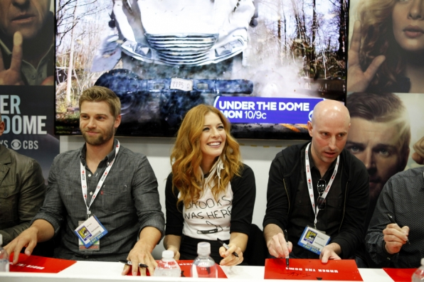 Mike Vogel, Rachelle Lefevre and Brian K. Vaughan