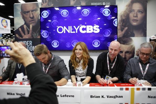 Rachelle Lefevre, Brian K. Vaughan and Neal Baer