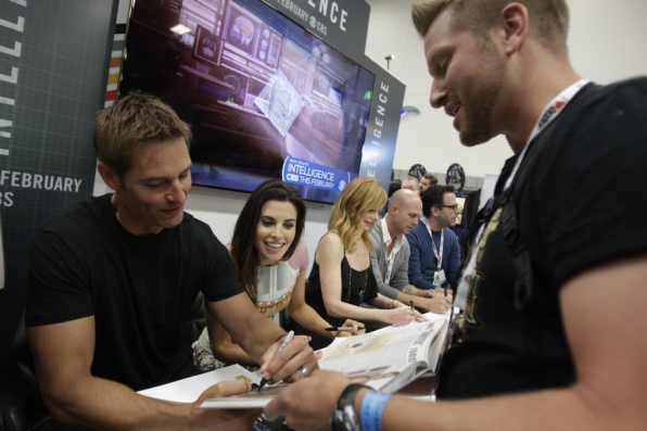 Josh Holloway and Meghan Ory Signing