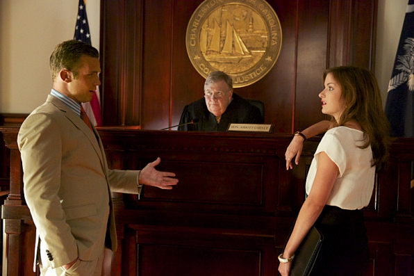 Cam Gigandet as Roy Rayder, Tim Ware as Judge Abbott Garner, and Anna Wood as Jamie Sawyer