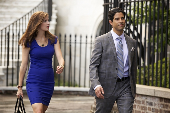Anna Wood as Jamie Sawyer and Adam Rodriguez as Preston Cruz