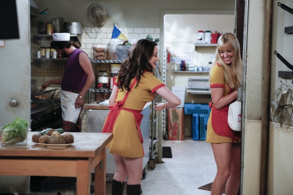 "Kitchen antics in ""And The Kitty Kitty Spank Spank"" in Episode 3 of Season 3"