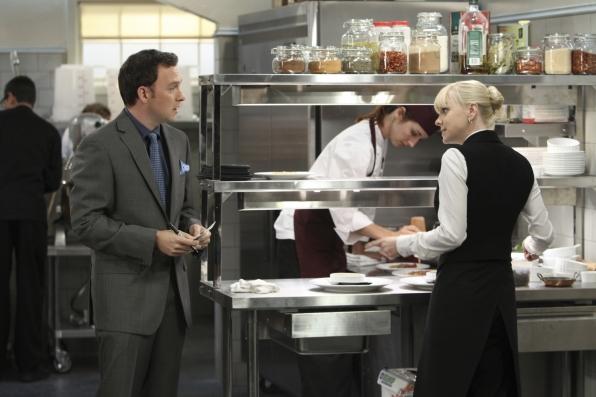"Christy & Gabriel in ""Six Thousand Bootleg T-Shirts and a Prada Handbag"" Episode 45 of Season 1"