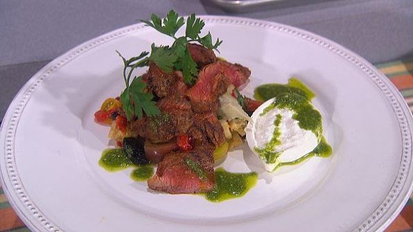 Jason Santos' BBQ Rubbed Skirt Steak