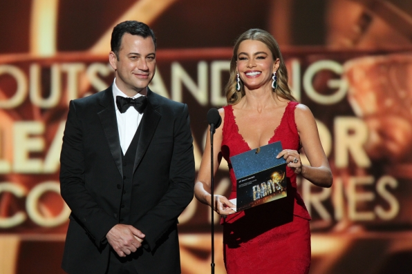 Jimmy Kimmel and Sofia Vergara