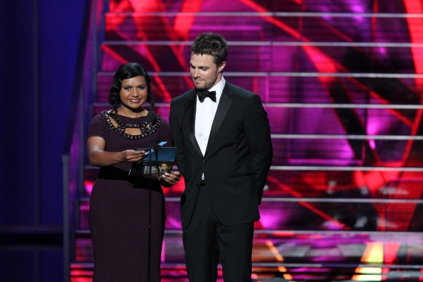 Mindy Kaling and Stephen Arnell
