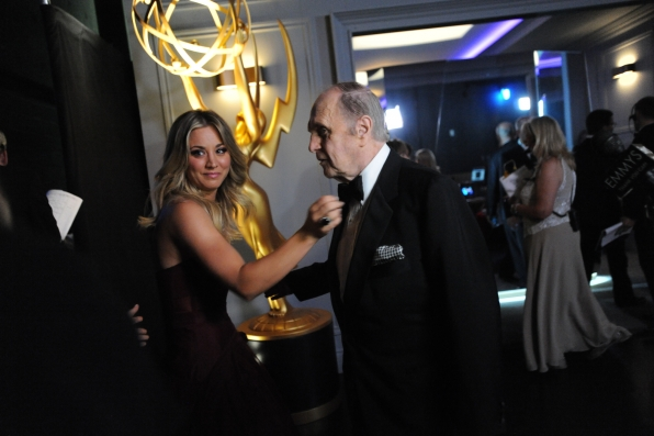 Kaley Cuoco and Bob Newhart