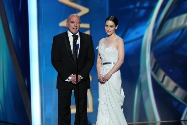 Dean Norris and Emilia Clarke