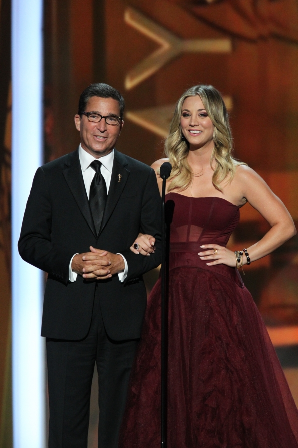 Bruce Rosenblum and Kaley Cuoco