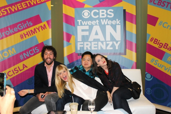Jonathan Kite, Matthew Moy, Beth Behrs and Kat Dennings