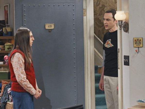"Amy & Sheldon in ""The Workplace Proximity"" Episode 5 of Season 7"