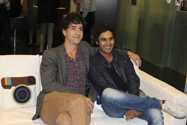 Hamish Linklater and Kunal Nayyar